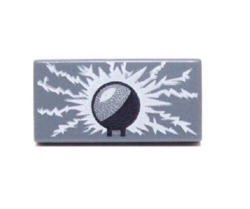 RARE LEGO TESLA COIL TILE ~ Gray 1x2 Lightning Bolt Antenna Radio Electricity