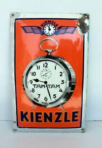 Vintage-Old-Rare-KIENZLE-WATCH-ADV-Porcelain-Enamel-Sign-Board