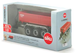 SIKU CONTROL 1 32 SCALE KRAMPE 3 AXLED HOOK LIFT TRAILER 6786