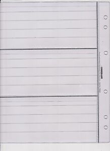 Banknote-Album-Pages-3-Pocket-Page-With-Backing-Page