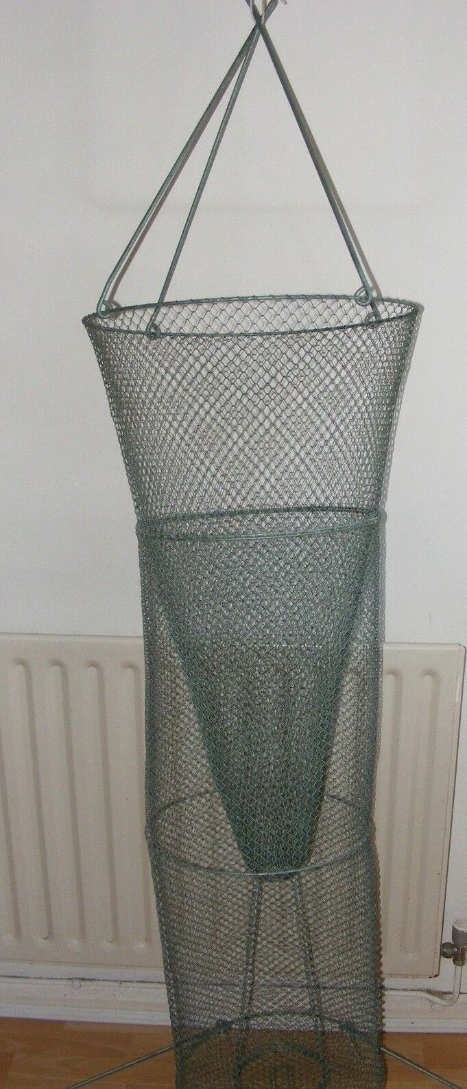 VINTAGE WIRE CRAB LOBSTER NET GREEN TO CONgreen LAMP    GARDEN   VEGETABLE BASKET  factory outlets