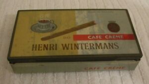 COLLECTIBLE-VINTAGE-CIGAR-TIN-HENRI-WINTERMANS-CAFE-CREME-BOX-USED