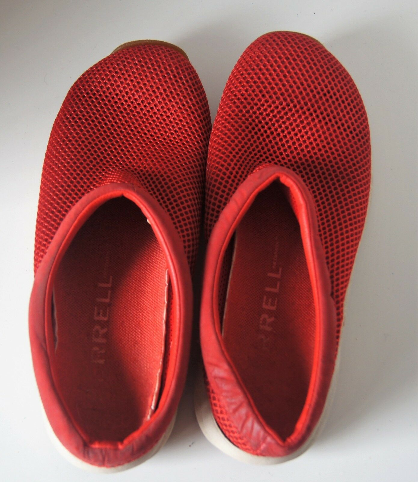 Merrell Red Primo Breeze Air Cushion Red Merrell Clogs Mules Sandals Shoes Women's SIze 8.5 5182d8