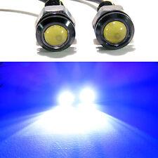 2x Blue 1.5W 18mm LED Bolt On Screw Eagle Eye Fog Driving Lights Car Motorcycle