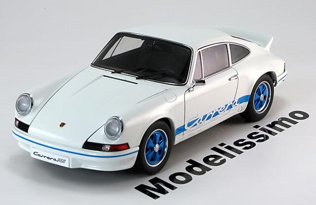 1 18 Autoart Porsche 911 911 911 Carrera RS 2.7 1973 blanc bleu a7375c