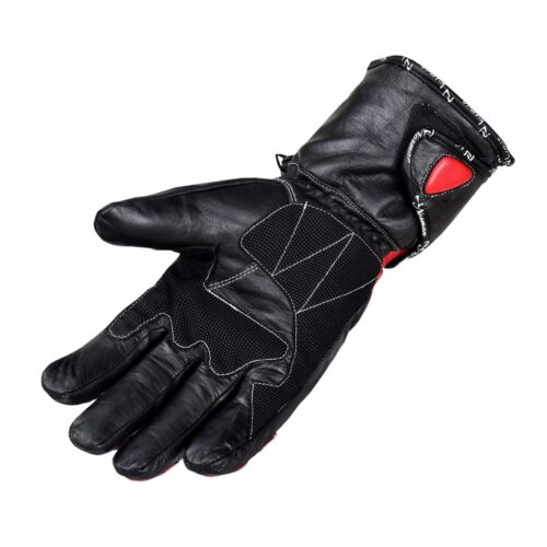 Red Thermal Waterproof Motorbike Motorcycle Gloves Carbon Knuckle Protection