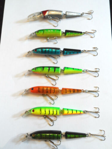 bass salmon 10.5cm rattling jointed minnow lure sea trout pike