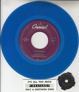 BEATLES-Its-All-Too-Much-Only-A-Northern-Song-BLUE-VINYL-RECORD-45-rpm-7-NEW