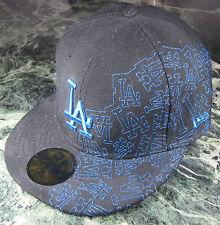 New Era Cap Los Angeles Dodgers Bling Silber Blau 7 1/4 57,7cm NEU Sammler NEU