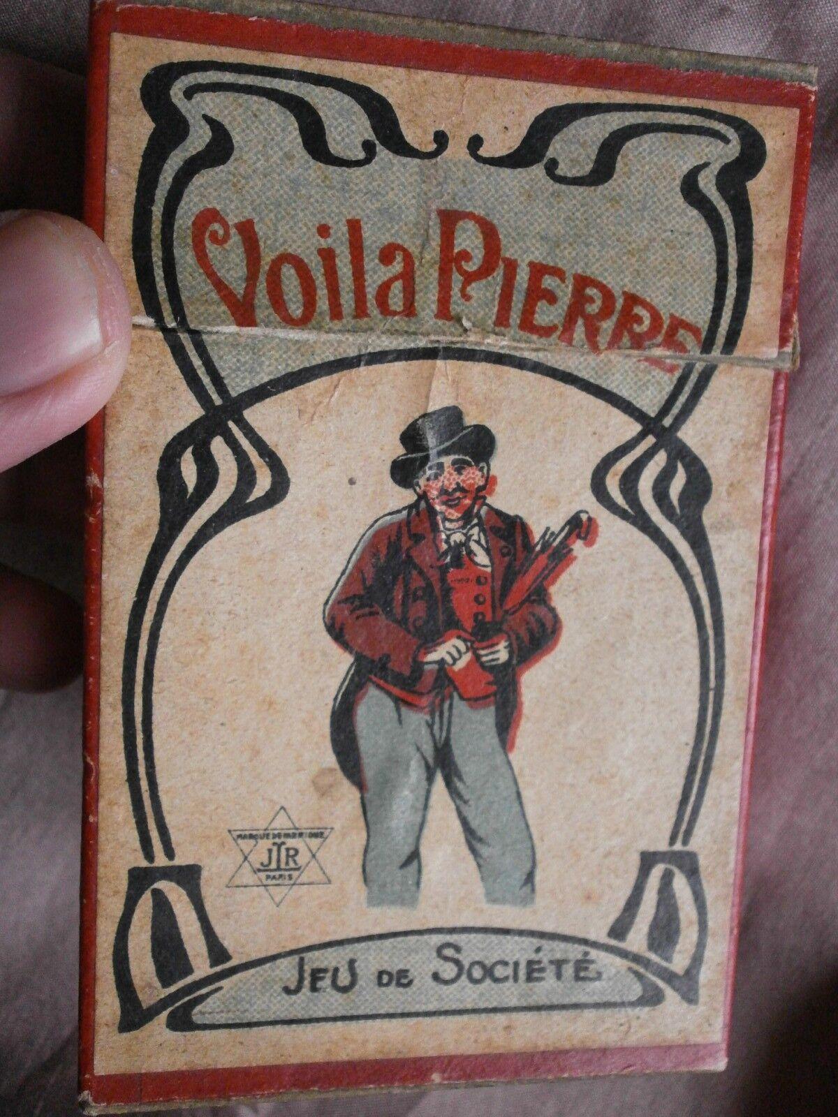 Jeu de cartes   Voilà Pierre Pierre Pierre   fin XIXème - Boîte & Notice - Jeu de société RARE 1ba256