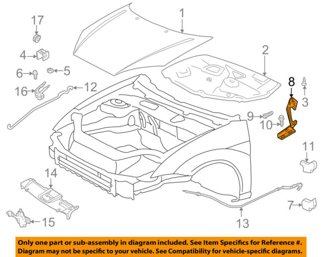 FORD OEM 00-11 Focus Hood-Hinge Right 4S4Z16796AA