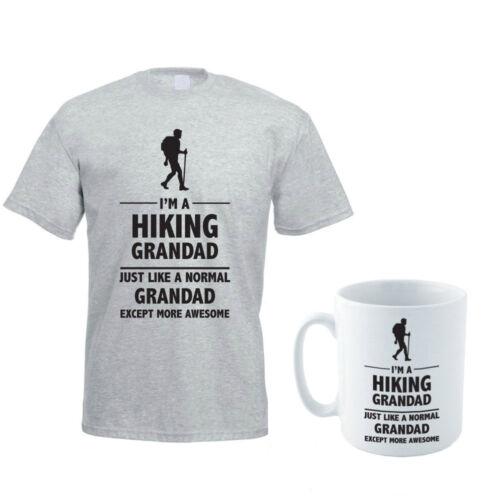Randonnée grandad-walker//père/'s jour//drôle idée cadeau homme t-shirt /& ensemble de tasses