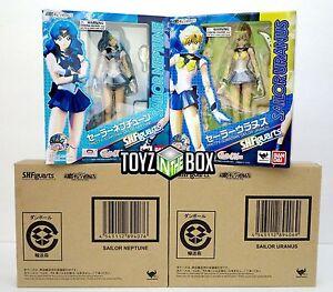 In-STOCK-S-H-Figuarts-034-Sailor-Neptune-Uranus-034-SET-Action-Figure-Sailor-Moon