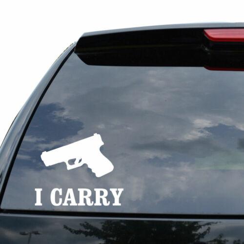 I CARRY GUN PISTOL Decal Sticker Car Truck Motorcycle Window