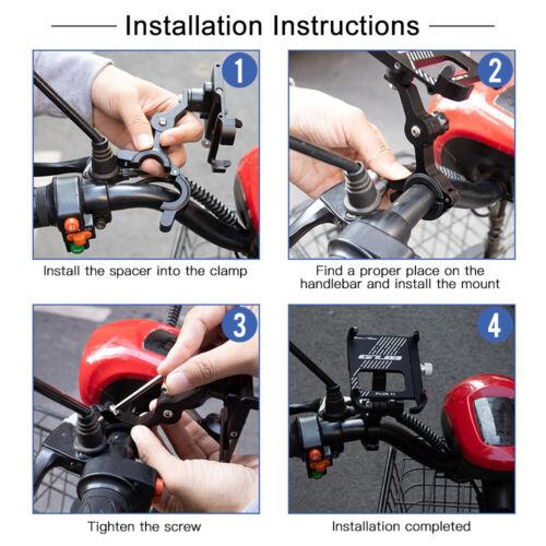 Aluminum Bicycle Holder MTB Motorcycle Bike Handlebar Mount For Cell Phone GPS