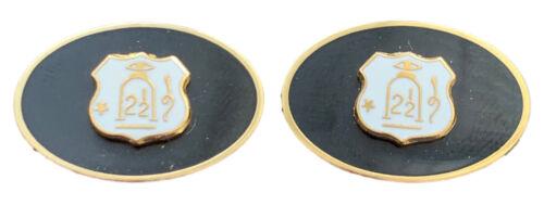 N120 Gift Bag 2½ white on black Orange Order Enamel Crested Cufflinks