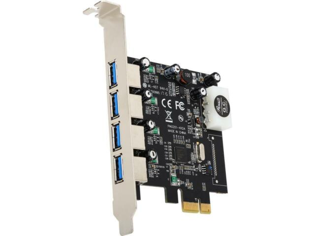 Rosewill RC-508 USB 3.0 PCI-E Express Card with 4 USB 3.0 Ports, Speed Up to 5.0
