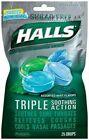 HALLS Mentho-lyptus Drops Sugar Assorted MINT 25 Each