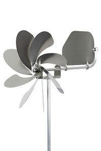A1004-steel4you-Windrad-034-Speedy20-plus-034-mit-Windfahne-aus-Edelstahl-Garten-neu