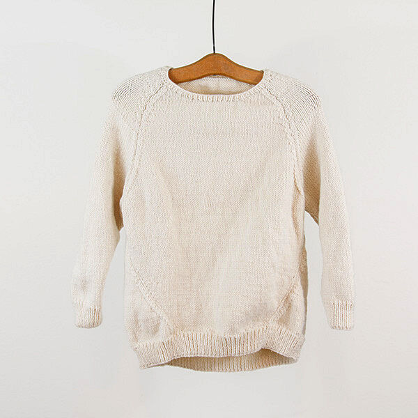 Tsuyumi - New Super Soft Wool Hand Knit Cream Ivory White Sweater S   totokaelo
