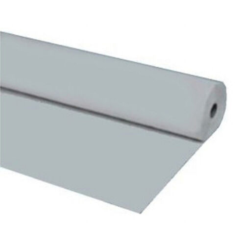 """Silver 40/""""x150 ft Heavy Duty Banquet Roll Plastic Table Cloth"""