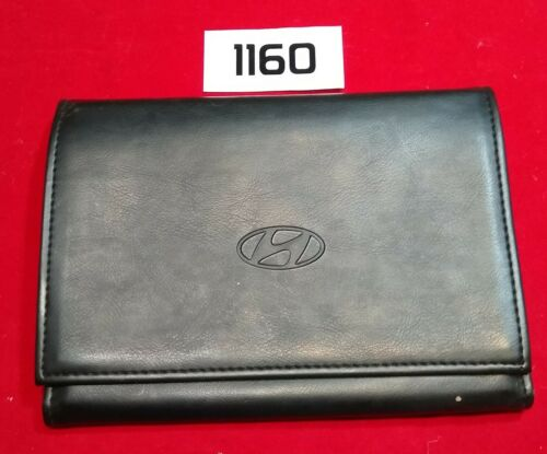 "EMPTY 9/'/'x6/"" Hyundai Factory Owner/'s Owners Manual Guide Book Cover Case Folder"