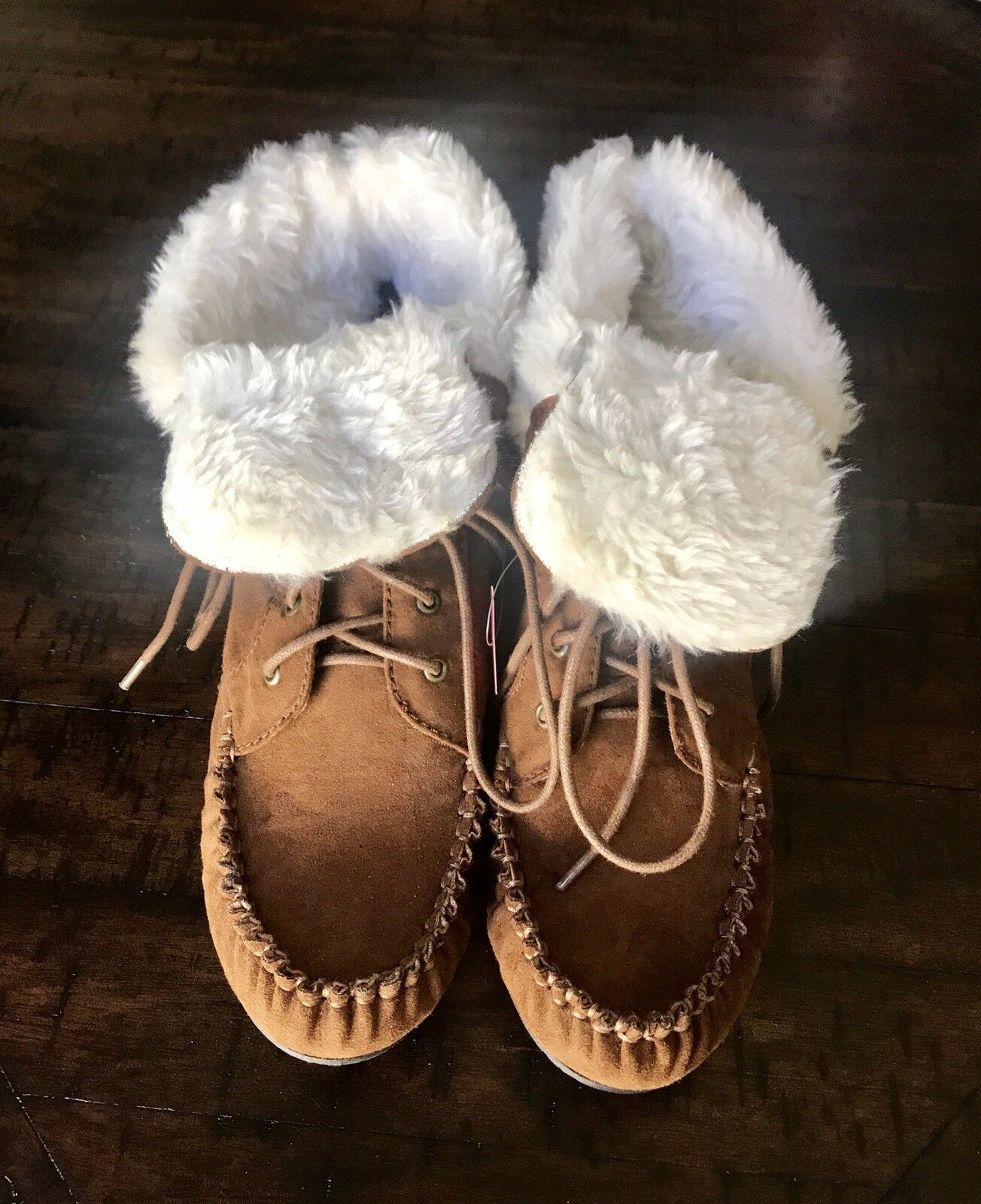 Faux Fur Ankle Mocassin Style Bootie