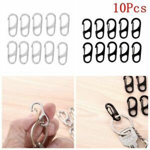 3 x Mini SF Carabiner Clip Backpack Clasps Camping Hiking Spring Clip Hook Camp
