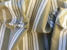 UNUSED VINTAGE FRENCH STRIPED TICKING FABRIC UPHOLSTERY 122cms x 250 cms