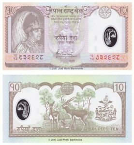 Nepal-10-Rupees-2005-Polymer-P-54-Banknotes-UNC