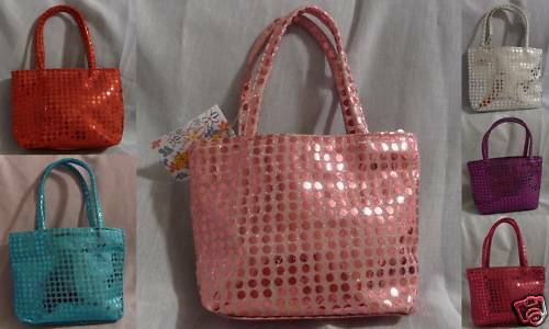 Girls Shiny Sequined Holiday Fashion Purse Handbag NEW!