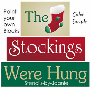 Christmas Stencil craft stencil reusable 7mil stencil The stockings were hung stencil christmas paint stencil Stencil for sign making