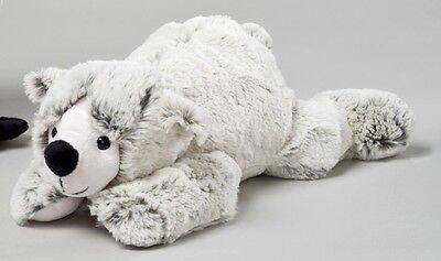 Althans Eisbär aus Plüsch grau liegend ca. 32 cm