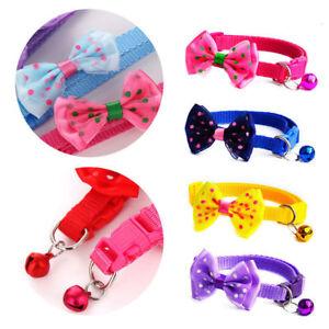 Dog-Cat-Pet-Bowknot-Cute-Bow-Tie-Bell-Adjustable-Puppy-Kitten-Necktie-Collar-SD