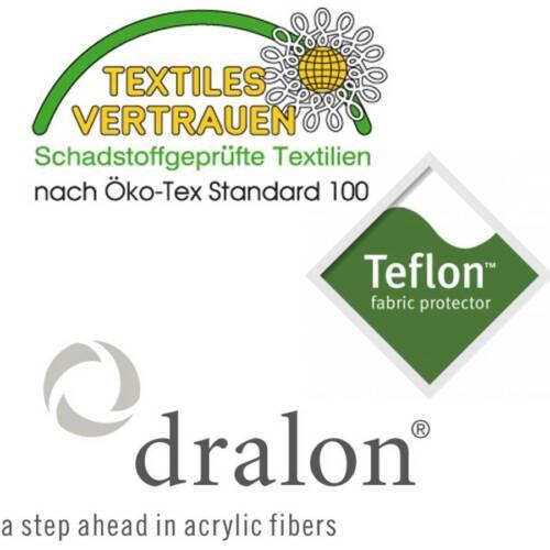 DRALON ® téflon premium édition à dossier haut 110 x 50cm anthracite coussins de chaise Dick