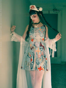 Gloomth-Doll-Hospital-Medical-Creepy-Skater-Dress-Regular-or-Plus-Size-Goth-NEW