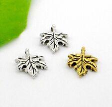 Free Ship 90 Pcs Tibetan Silver Maple Leaf Charms 19x13mm #465