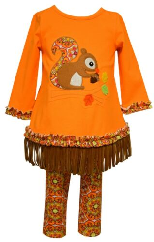 Bonnie Jean Girls Fall Autumn Squirrel Pants Outfit Size 0//3m-4T