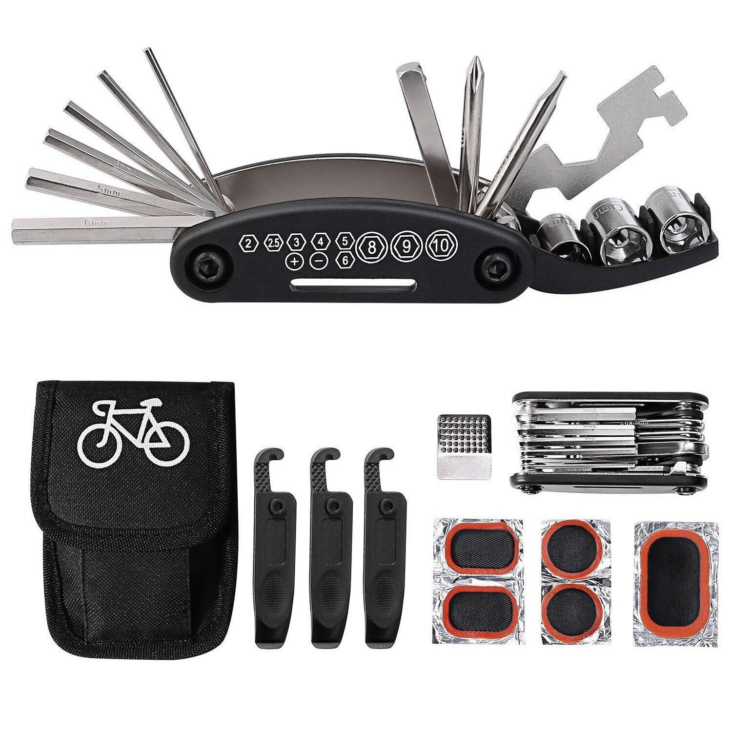 Kit of Tools Para Bicicleta 16 en 1 Multifunction with Kit Patch New