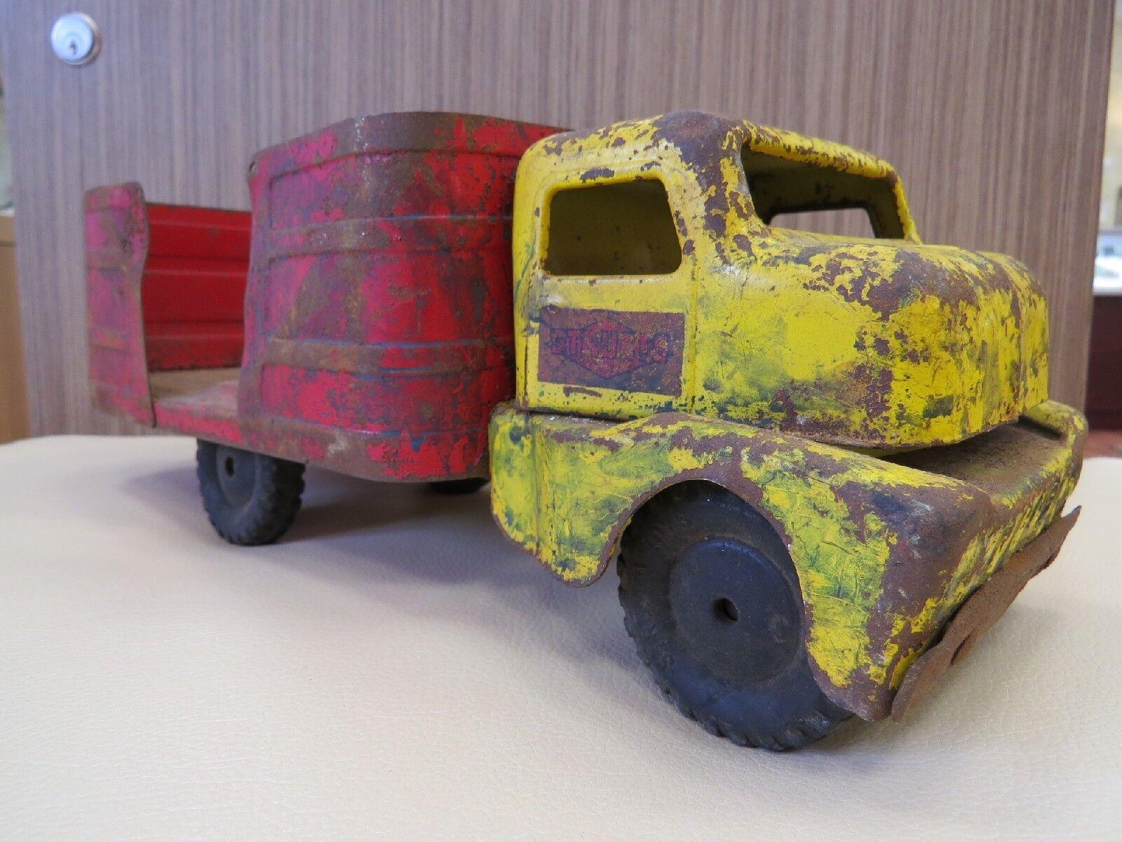 seguro de calidad Vintage Structo Granja Barril Camión, Camión, Camión, Vintage Tin Camión  Envío rápido y el mejor servicio