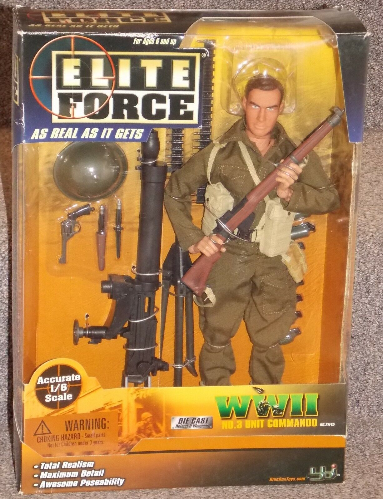 2002 Elite Force WW2 Unit Commando 1 6th Scale Action Figure New In The Box