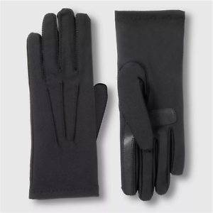 Isotoner-Women-039-s-SmarTouch-Spandex-Fleece-Lined-Gloves-Black-One-Size