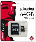 Kingston 64Gb Micro SDXC Memory Card Class 10 45mb/second Inc SD Card Adopter