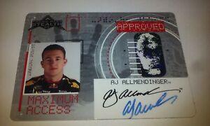 AJ-Allmendinger-Autograph-Stealth-2007-Press-Pass-Maximum-Access-Card-Red-Bull