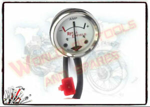 Royal-Enfield-White-Face-8-Ampere-Ammeter