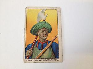 Details about Antique Fez Cork Tip Cigarette Card Military Series Sapper  Zouave Guards Turkey