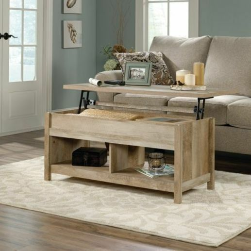 Wondrous Sauder Modern Farmhouse Lift Top Storage Coffee Table Rustic Oak Finish New Home Interior And Landscaping Mentranervesignezvosmurscom