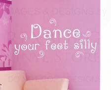 Dance your feet Silly Musical words funny Vinyl wall art Decal Sticker