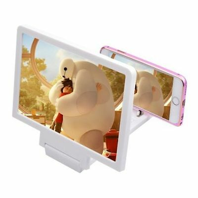 3D Enlarge Magnifier HD Screen Portable Folding Stand For Mobile Phones UKSELLER