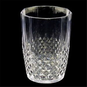 12 Reusable Acrylic Clear Plastic Tumbler Water Drinking Glasses Drink Tumblers
